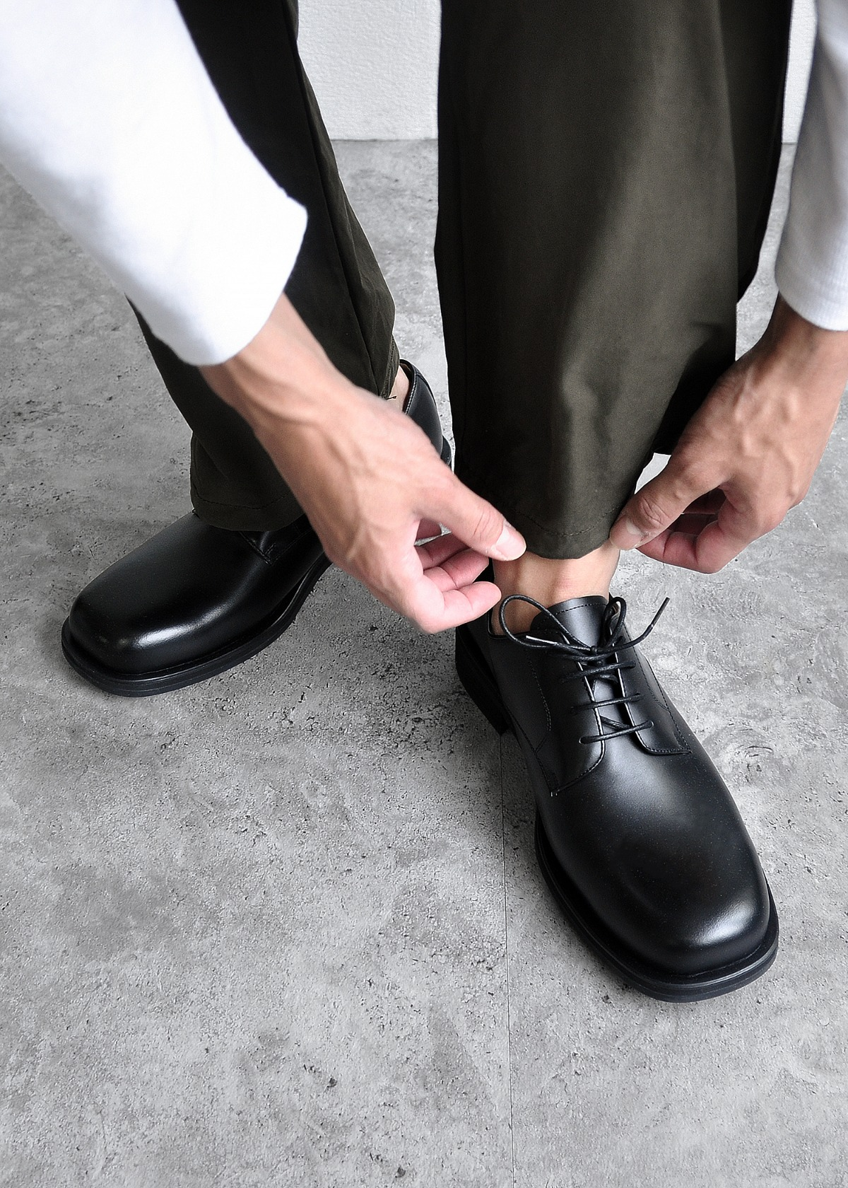 HAND MADE SQUARE TOE DERBY SHOES - 시도